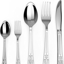 Flatware Set - Sterling Quality - Royal Cutlery - Multipurpose Use for Home, Kitchen or Restaurant (20 Pc Flatware Set) - by Utopia Kitchen