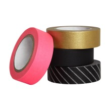 Hot Pink Gold Washi Tape Set