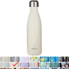 MIRA Vacuum Insulated Travel Water Bottle | Leak-proof Double Walled Stainless Steel Cola Shape Portable Water Bottle | No Sweating, Keeps Your Drink Hot & Cold | 17 Oz (500 ml)