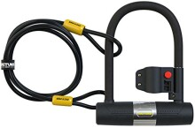 SIGTUNA Bike locks - 16mm Heavy Duty Bike Lock with U Lock Shackle and Mounting Bracket + 1200mm Steel Flex Cable Lock