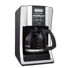Mr. Coffee BVMC-SJX33GT-AM 12-Cup Programmable Coffee Maker with Thermal Carafe Option, Chrome, FFP Packaging
