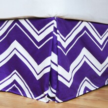 Chevron Stripe Bed Skirt - Full