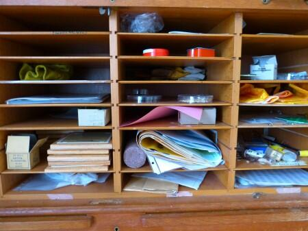 storage, shelf, papers, space